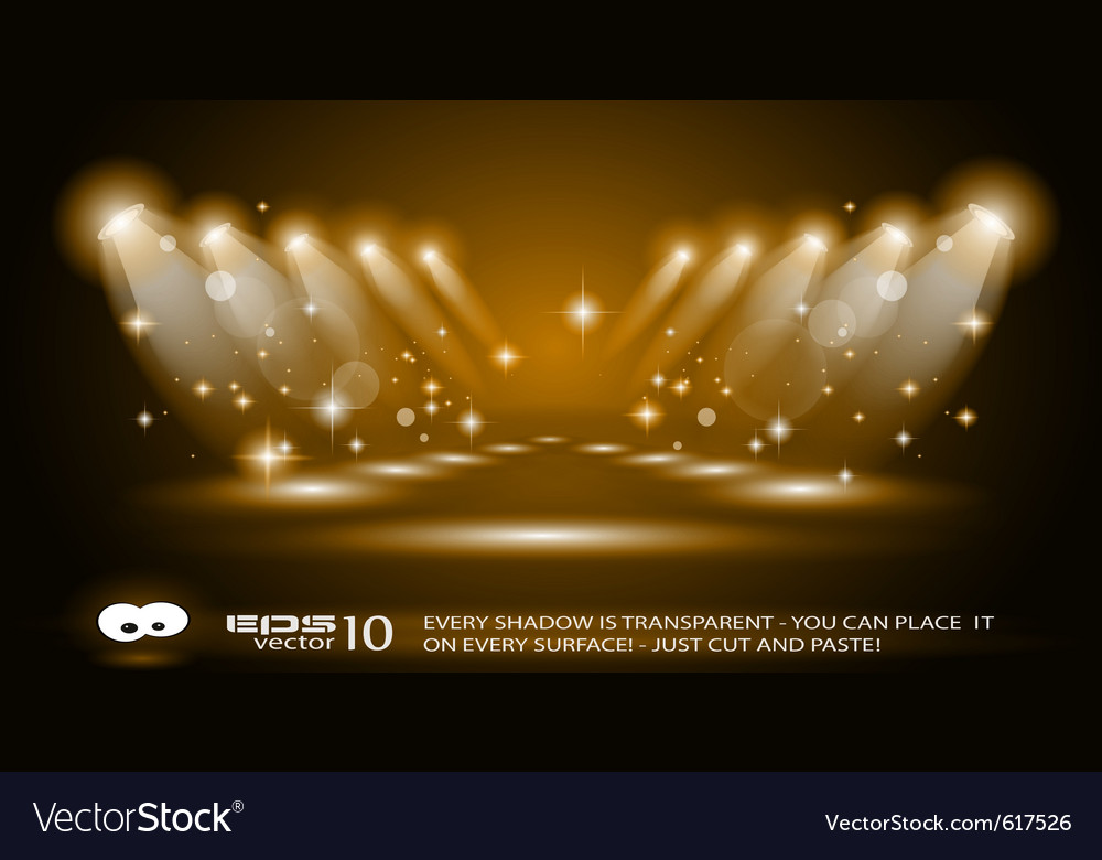Magic spotlights vector