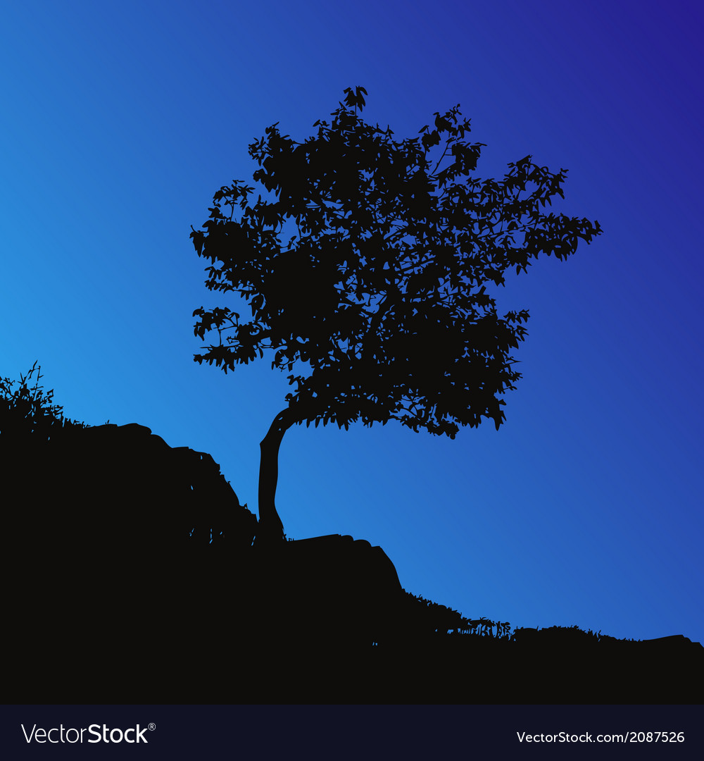 Tree backgound vector