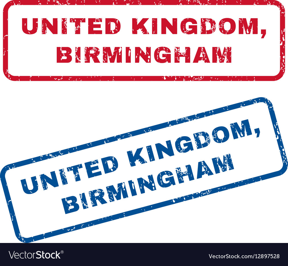 United kingdom birmingham rubber stamps vector