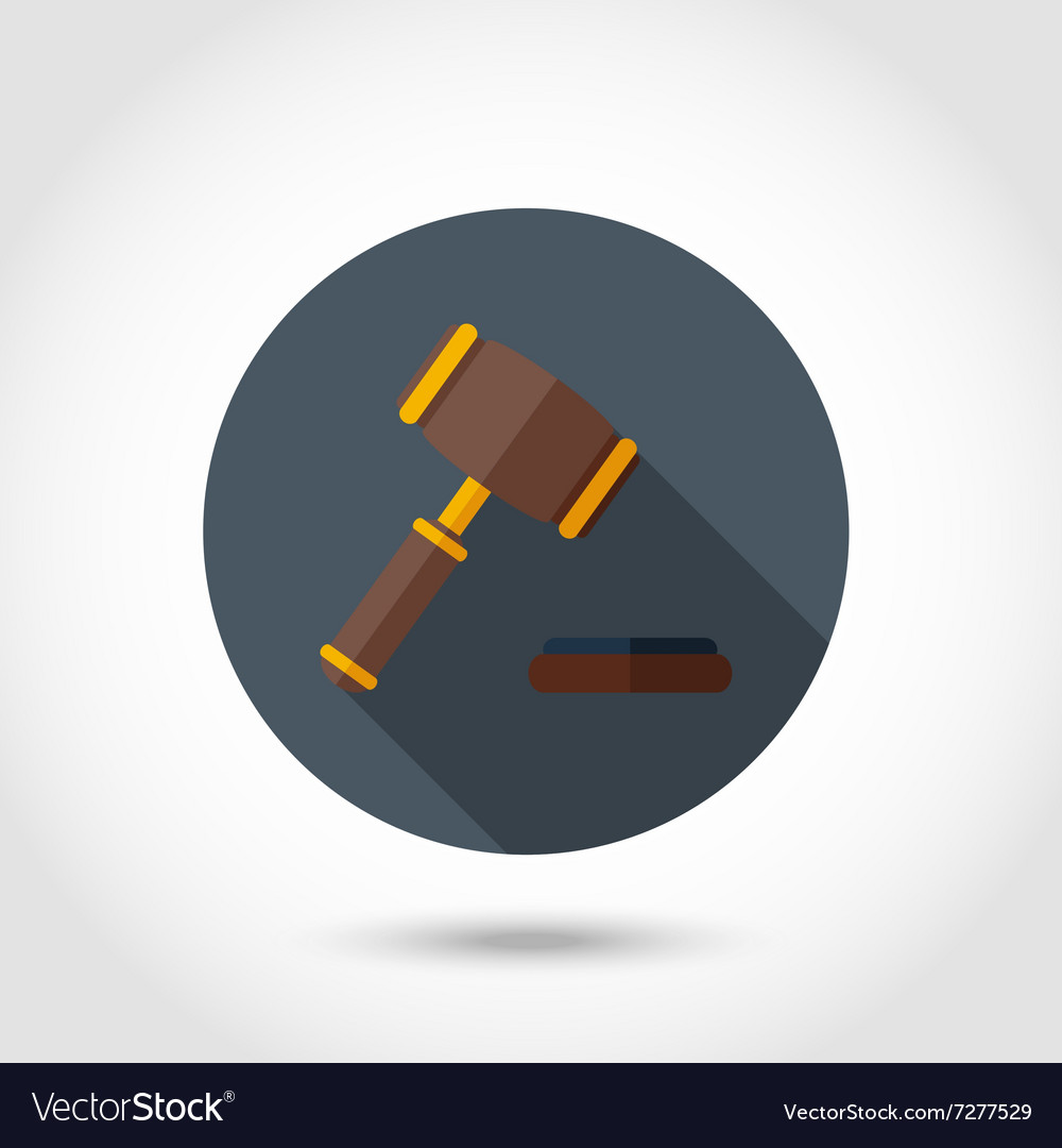 Gavel flat icon vector