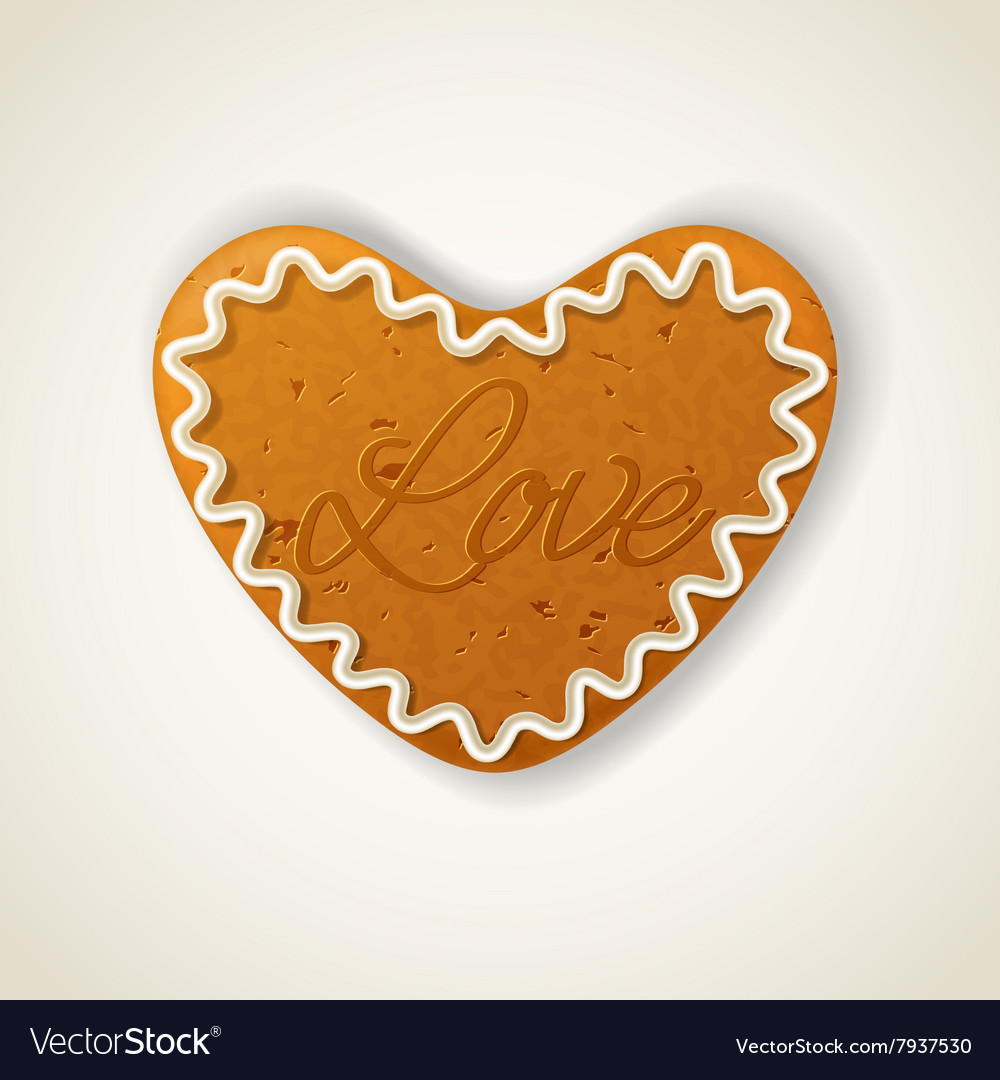 Happy valentines day cookie vector