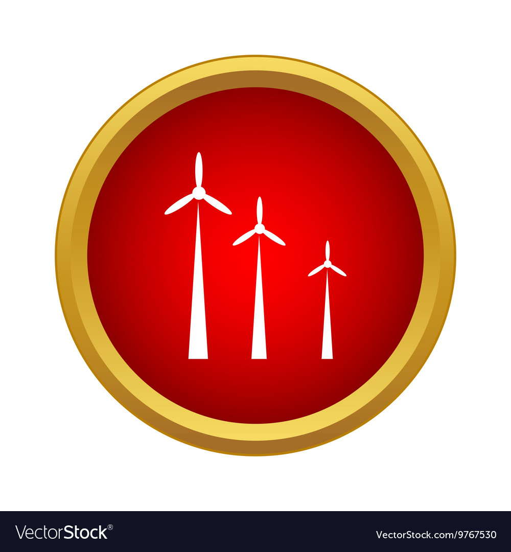 Windmills icon simple style vector