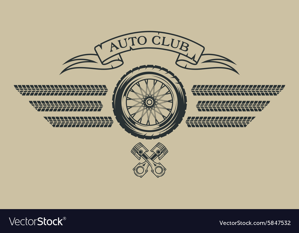 Auto emblem in vintage style vector