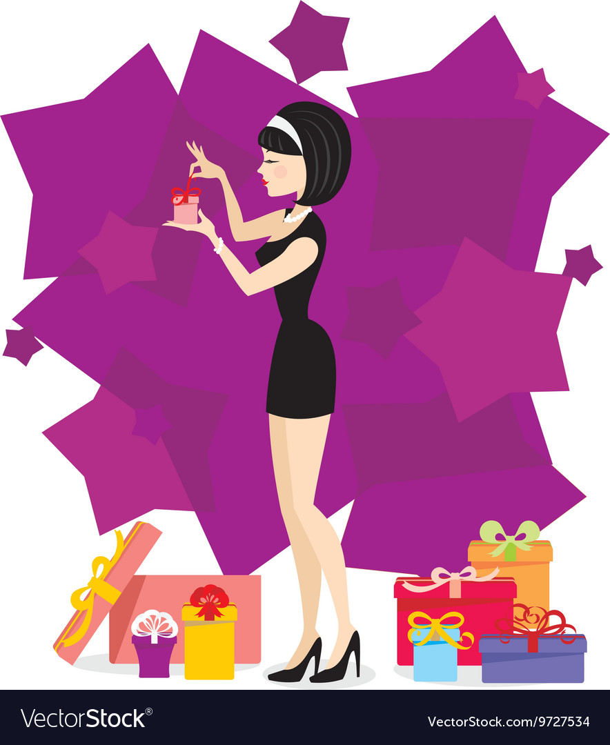 Present for woman 03 vector