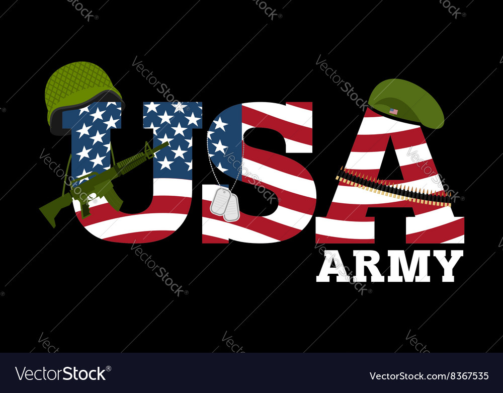 United states army military equipment of america vector