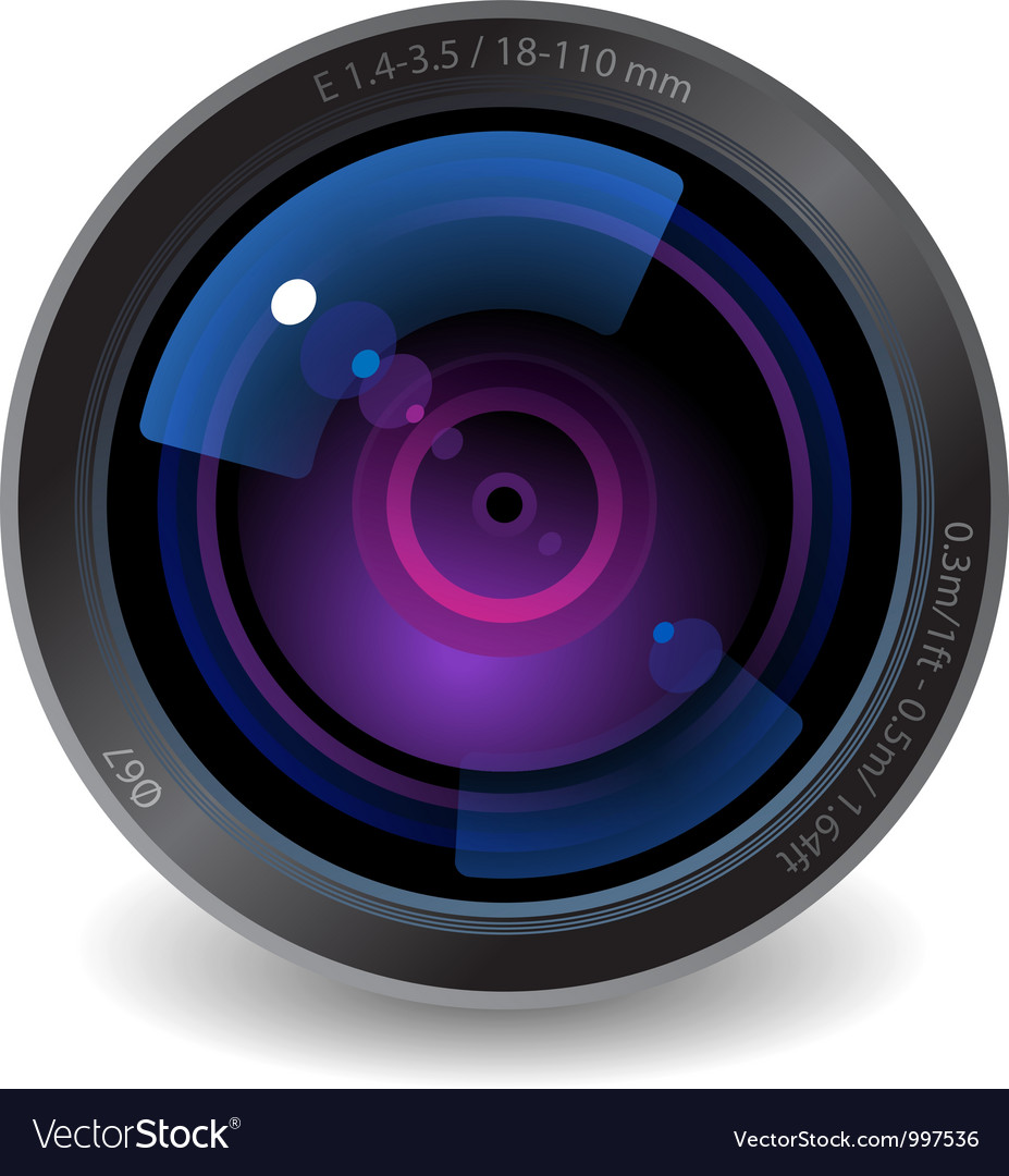 Icon for camera lens vector
