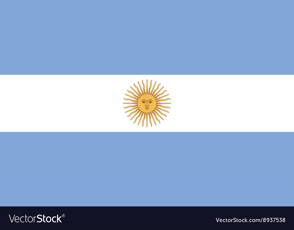 Argentina flag image vector