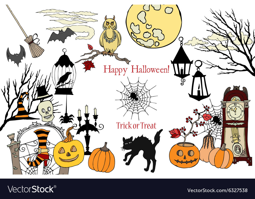 Colors halloweencard vector
