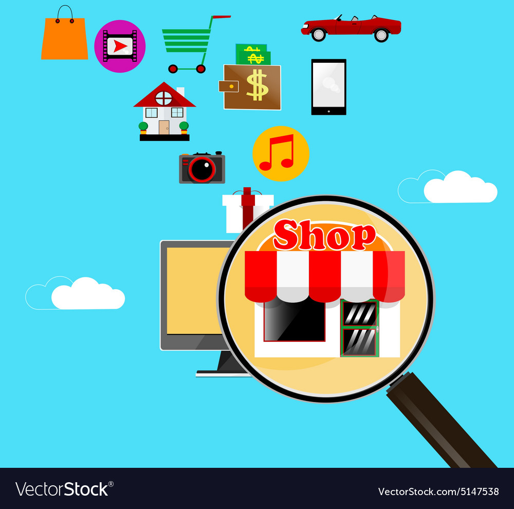 On line store vector
