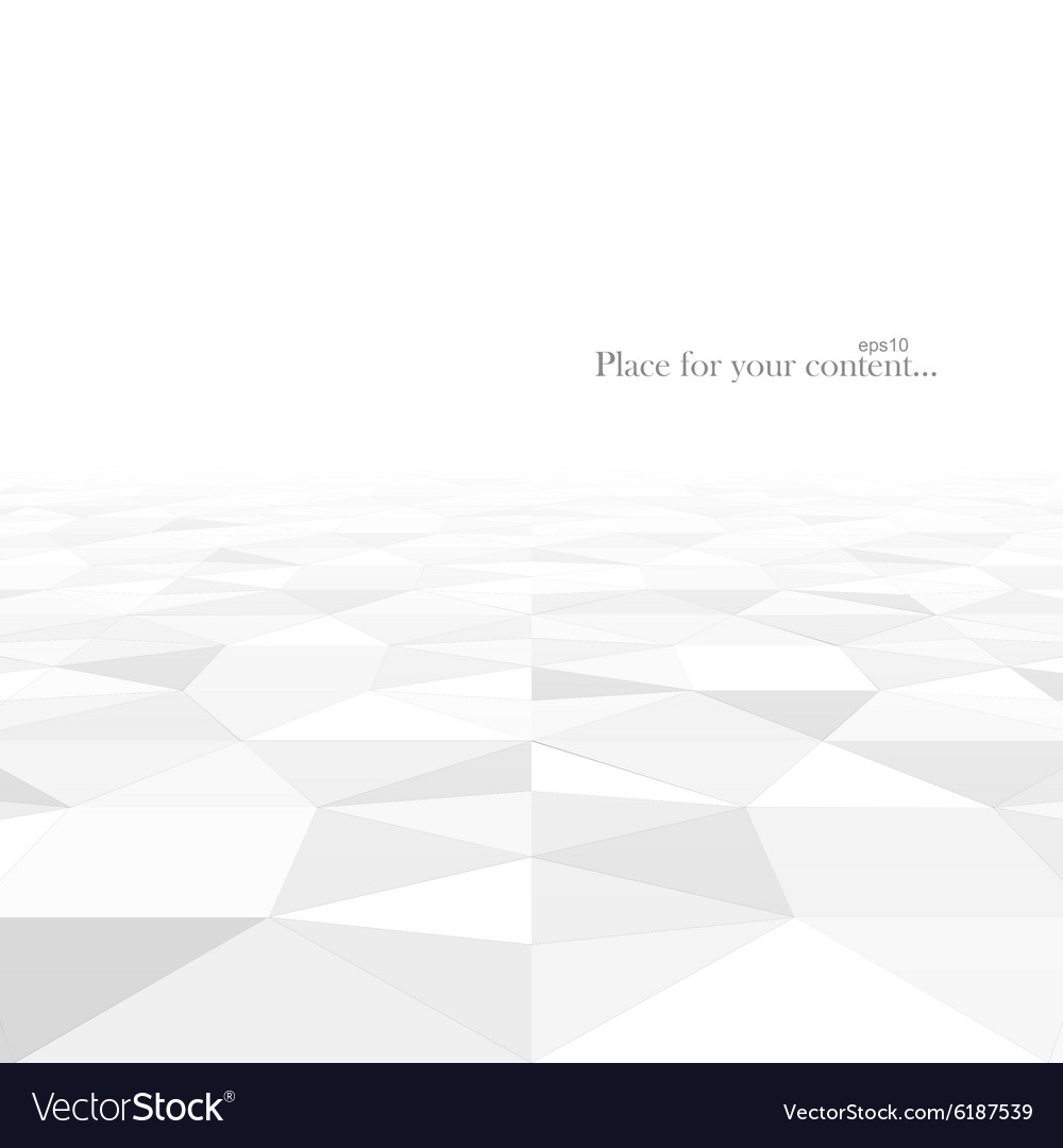 Abstract background with white geometric shapes vector