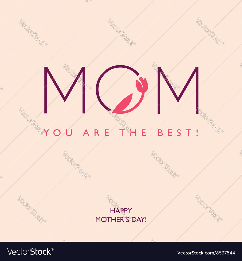 Mothers day or birthday greeting card vector