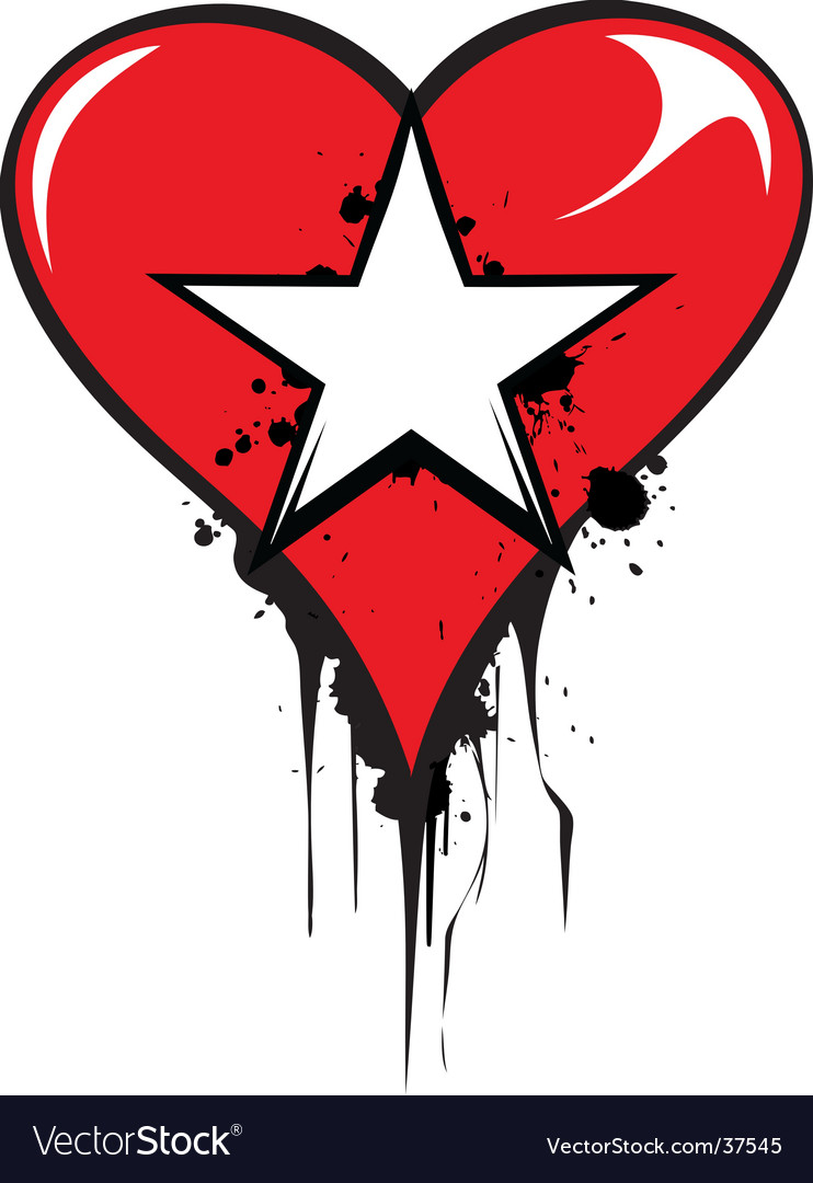 Love star vector