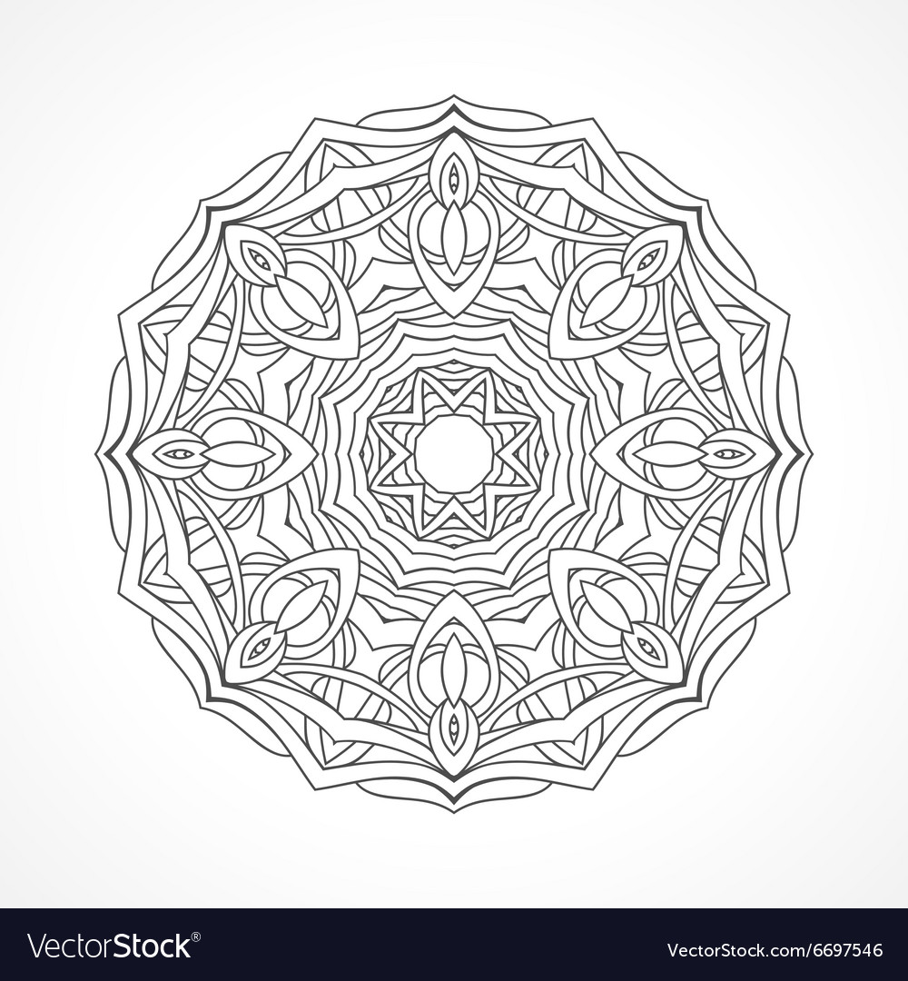 Mandala ethnic decorative elements vector