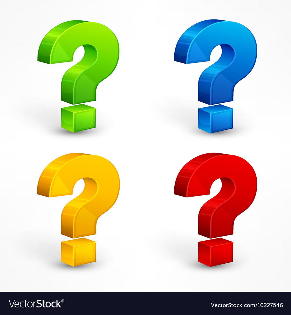 Question mark set vector