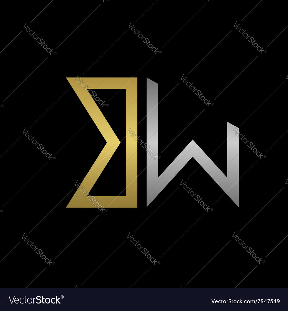 Bw letters logo vector