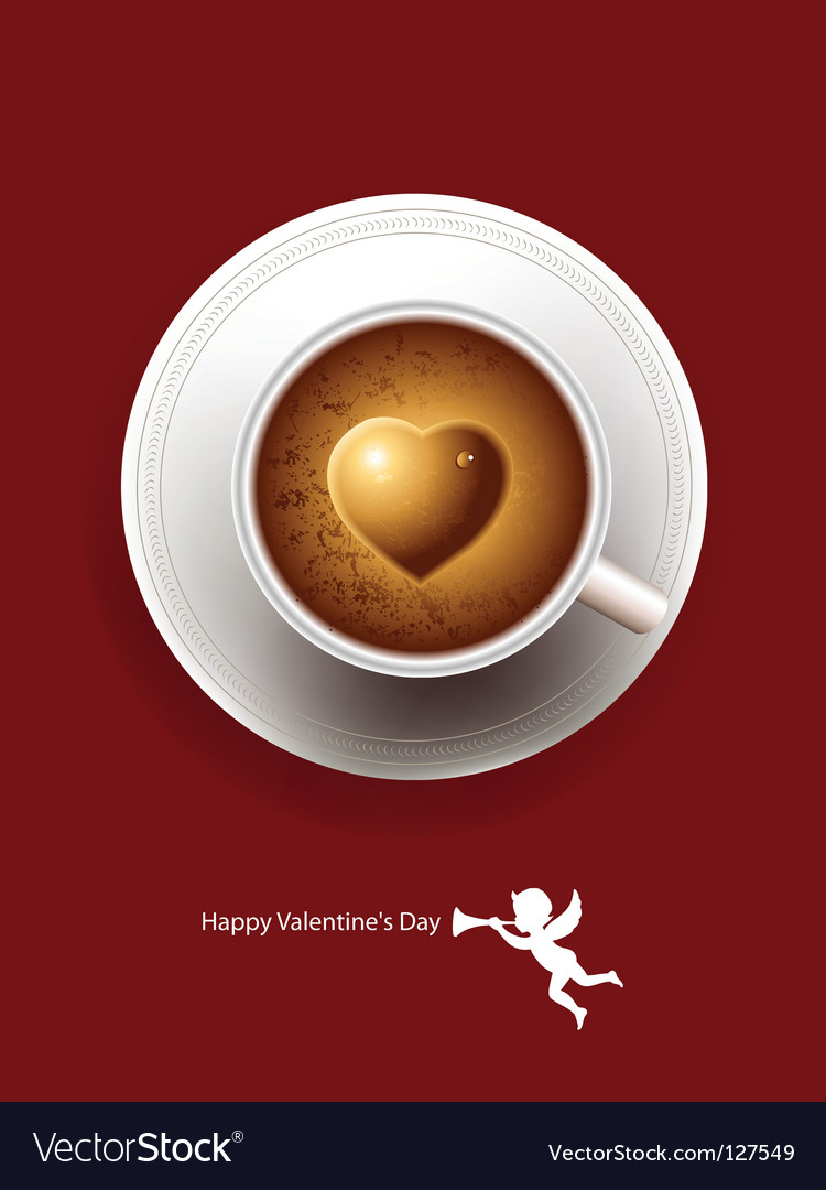 Heart coffee vector