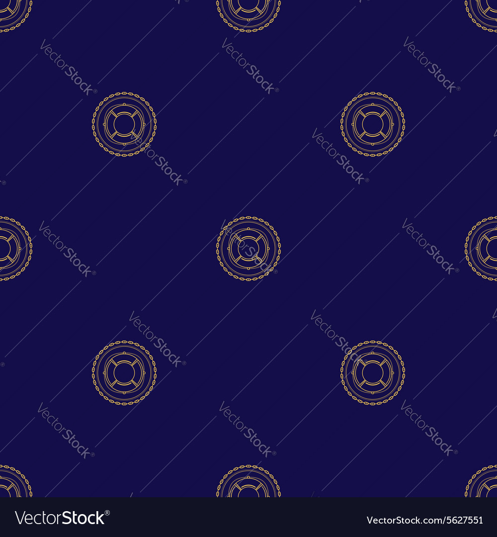 Seamless pattern with lifebuoy vector