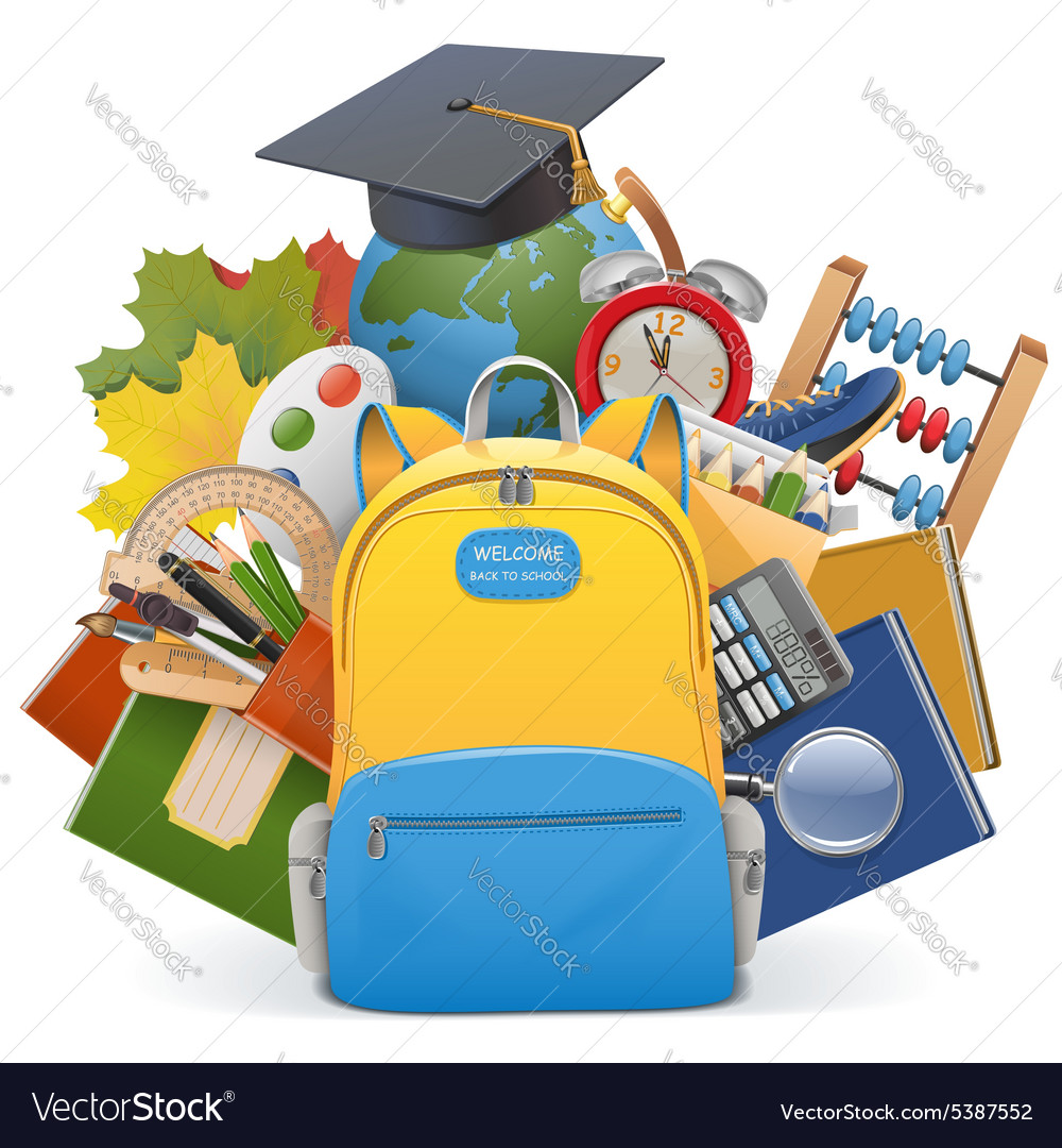 School concept with backpack vector