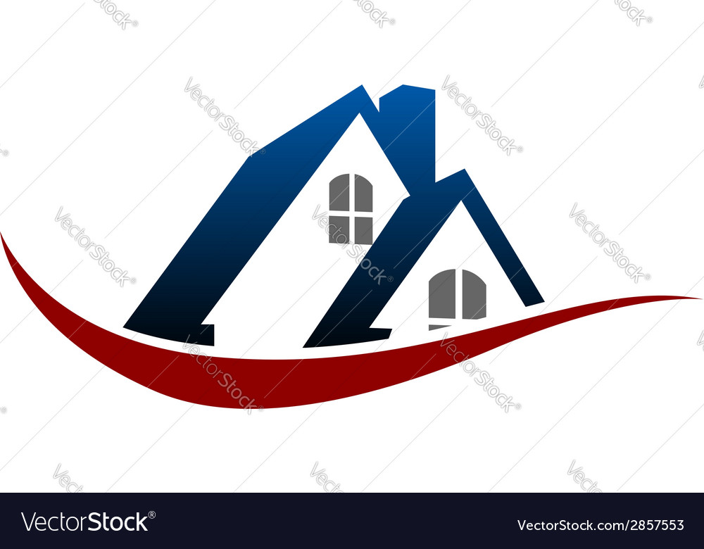 House roof symbol vector