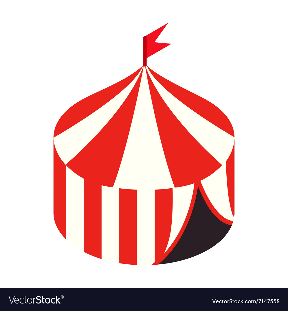 Circus tent isometric 3d icon vector