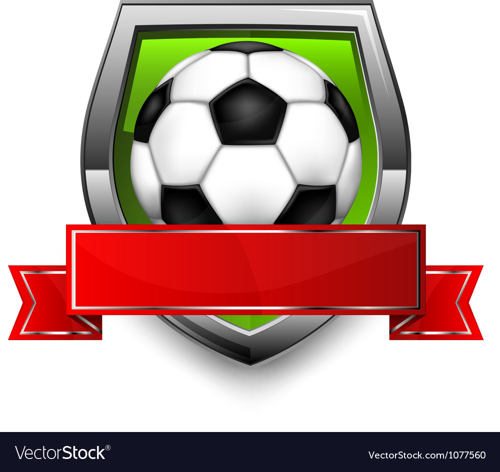 Soccer ball shield vector