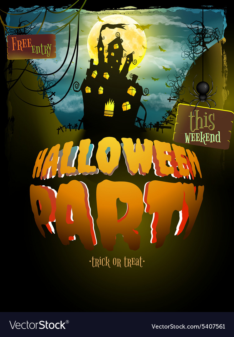 Halloween party eps 10 vector