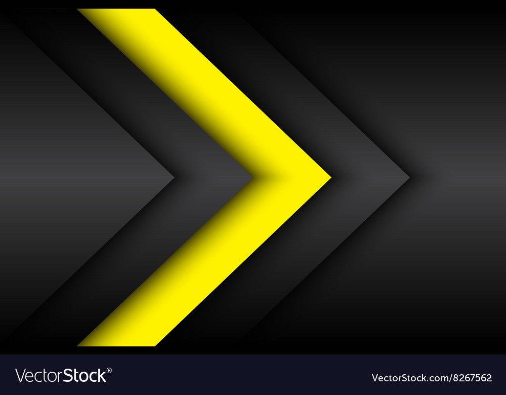 Black and yellow abstract background vector