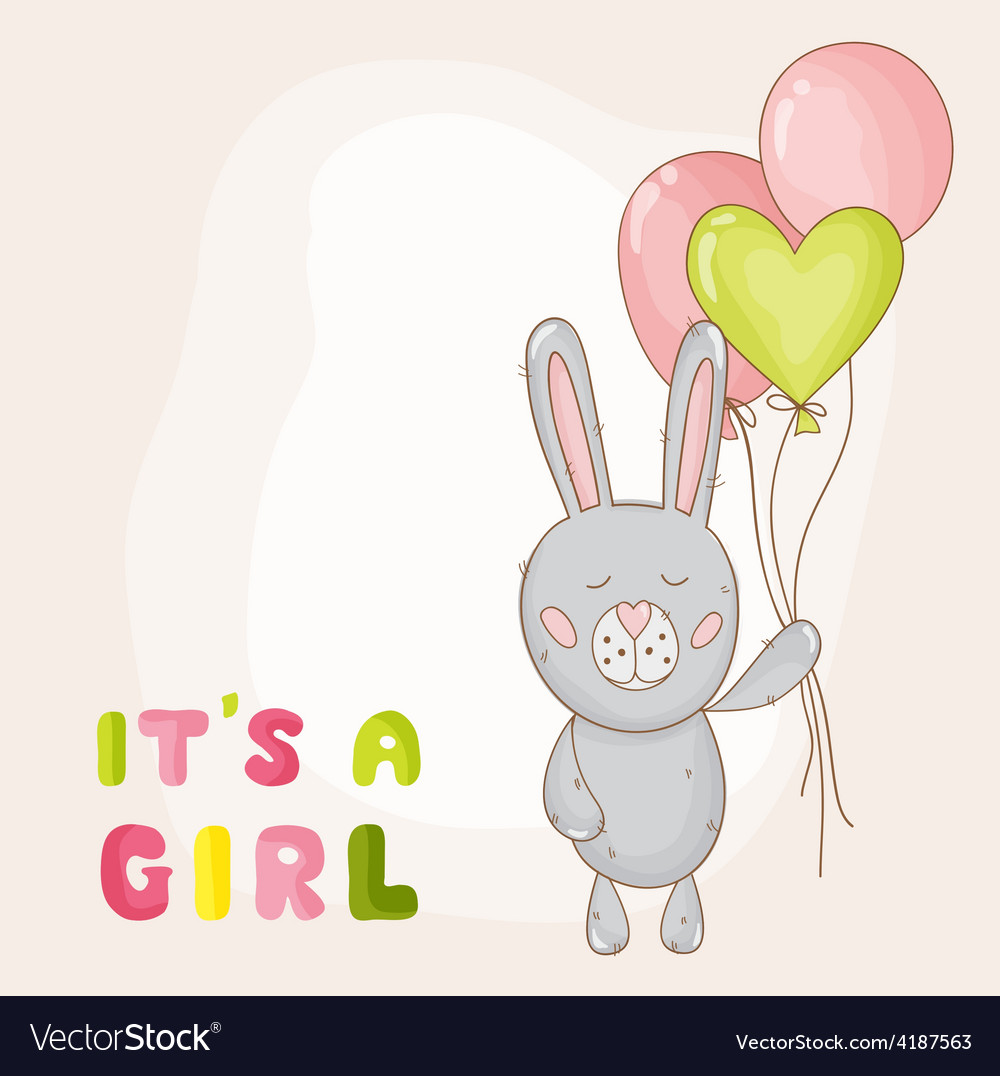 Cute baby bunny background vector