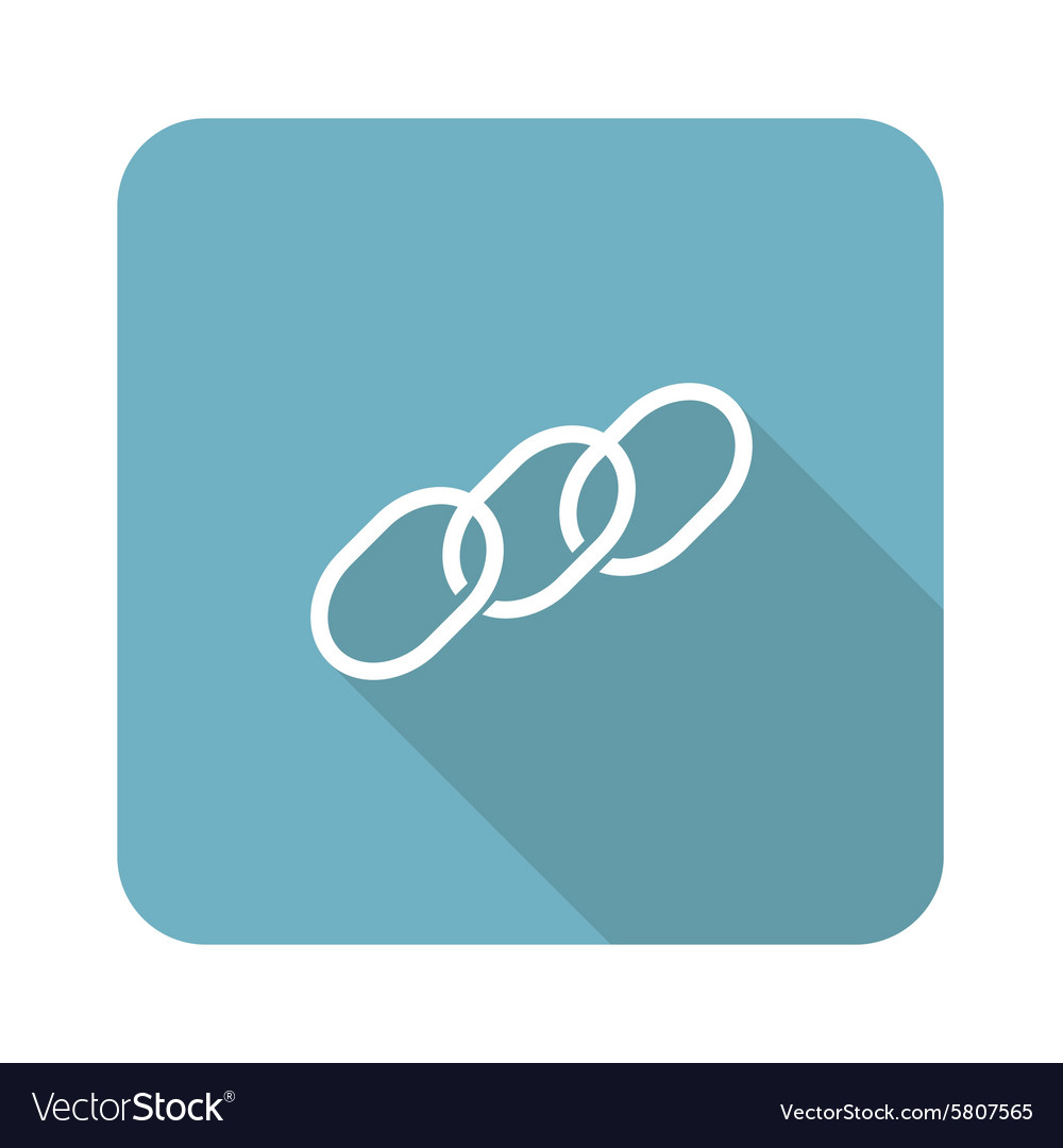Chain icon square vector