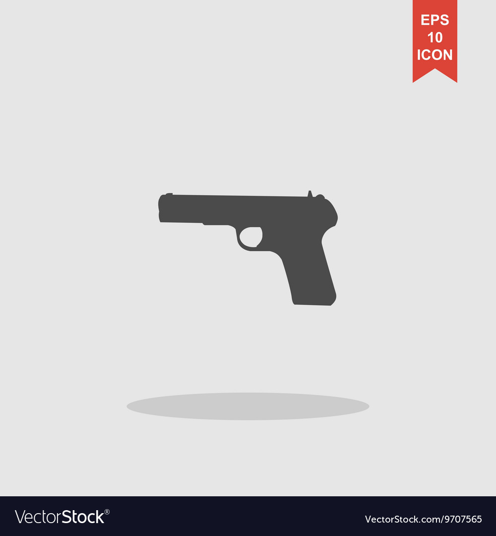 Gun icon concept for design vector