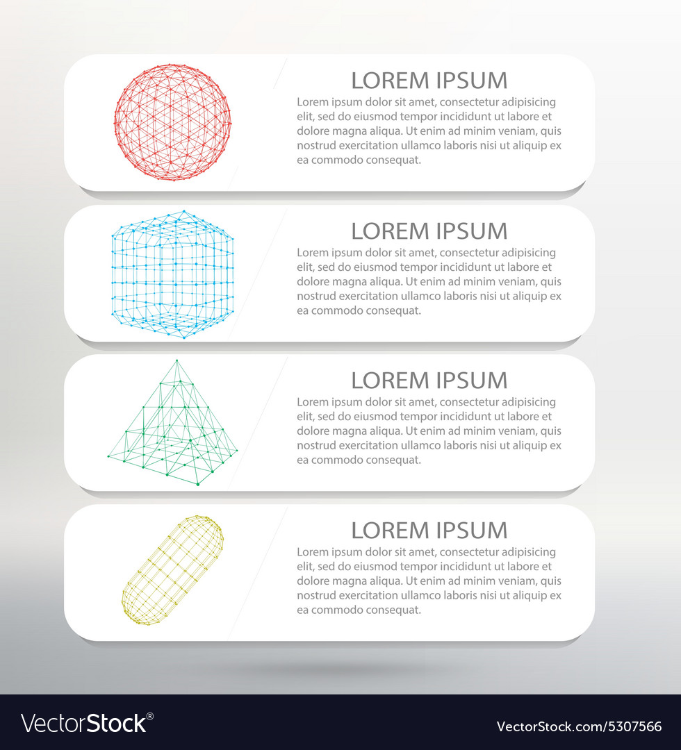 Infographic template list vector