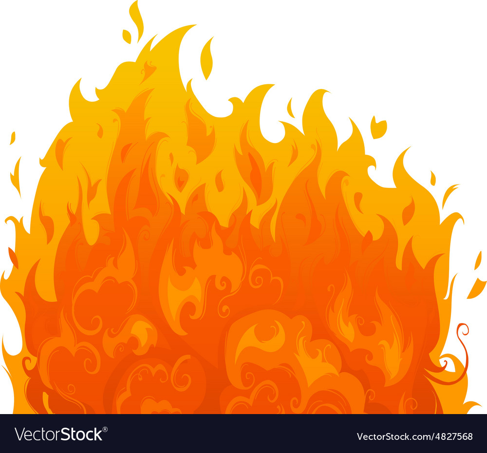 Flame on white background vector