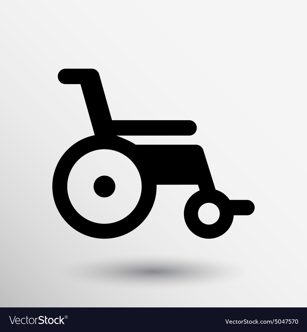 Disabled icon sign wheelchair handicap symbol vector