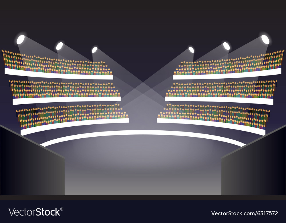 Coliseum arena stage vector