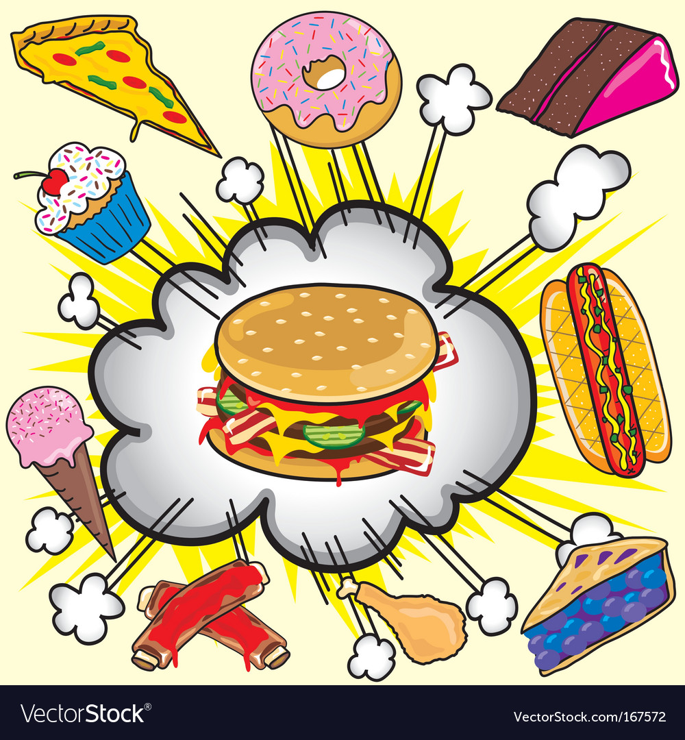 Fast food items vector