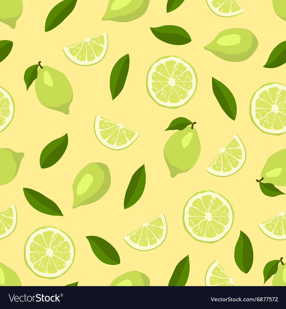 Limes seamless pattern vector