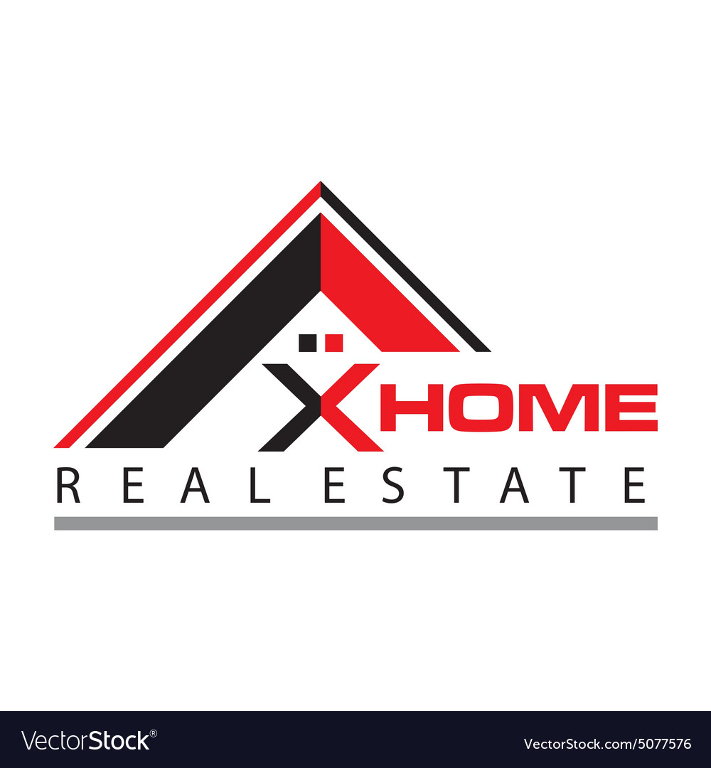Real estate home card construction vector