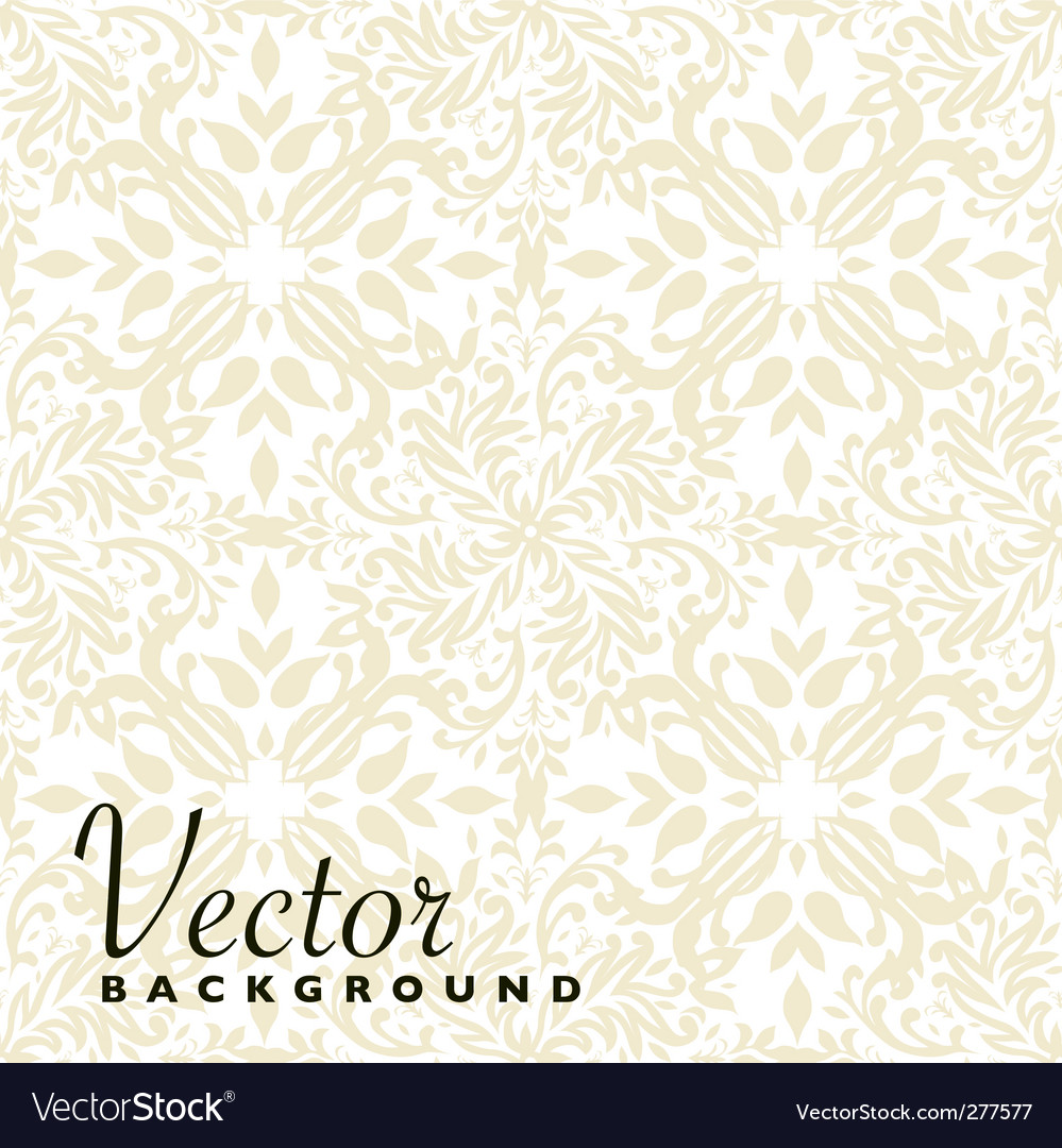 Floral beige repeat vector