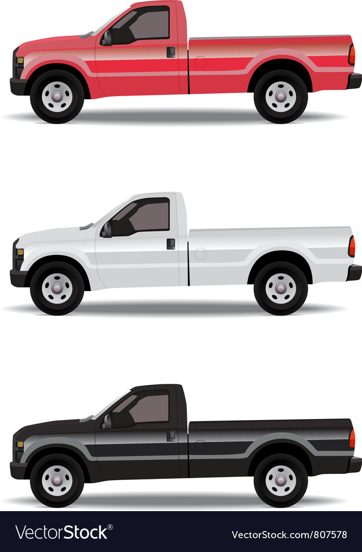Pickup trucks vector