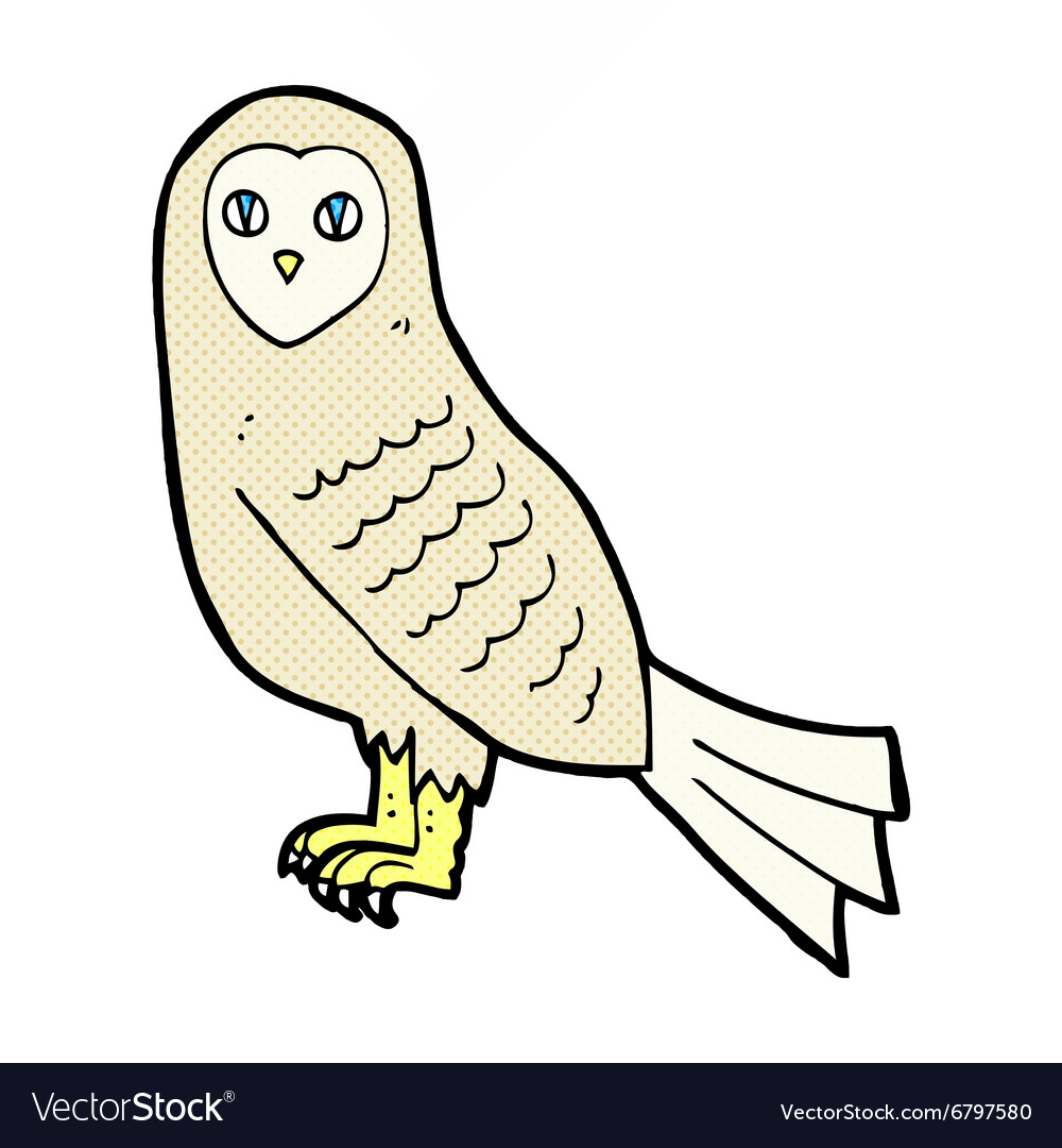 Comic cartoon owl vector