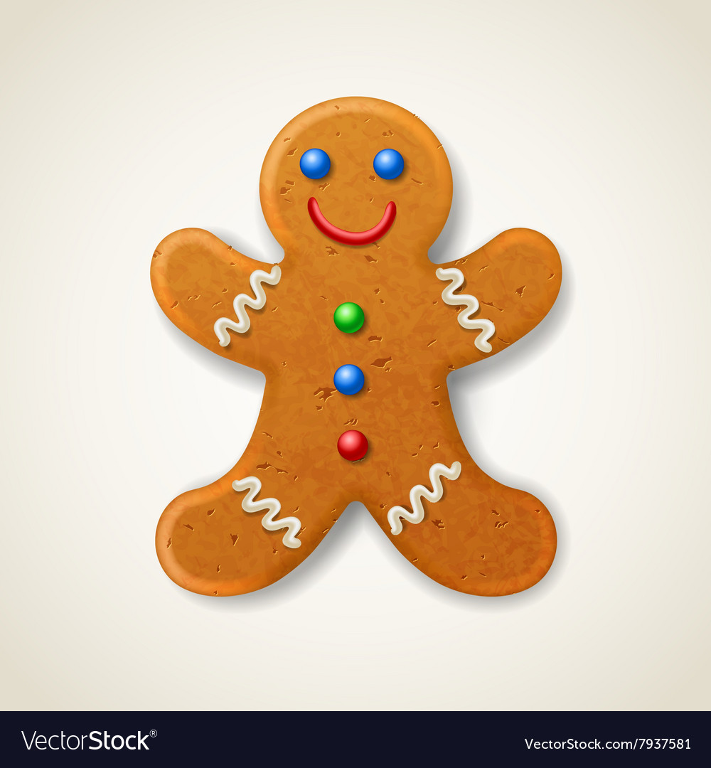 Christmas gingerbread man vector