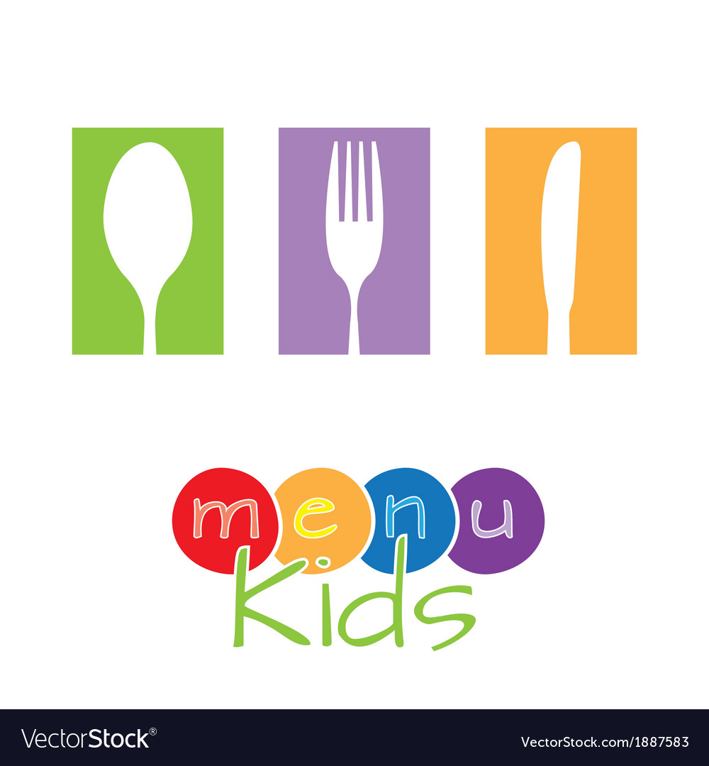Menu kids vector