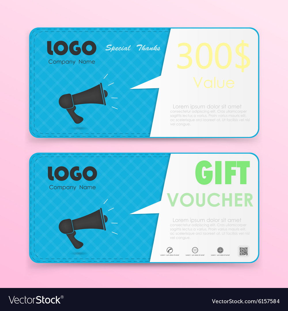 Gift voucher background or certificate coupon vector