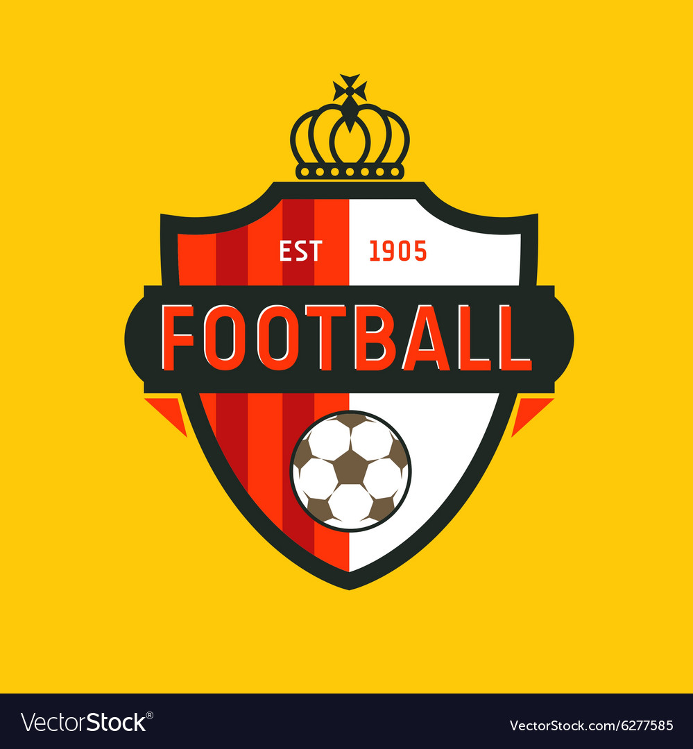 Vintage color football soccer championship logo  vector