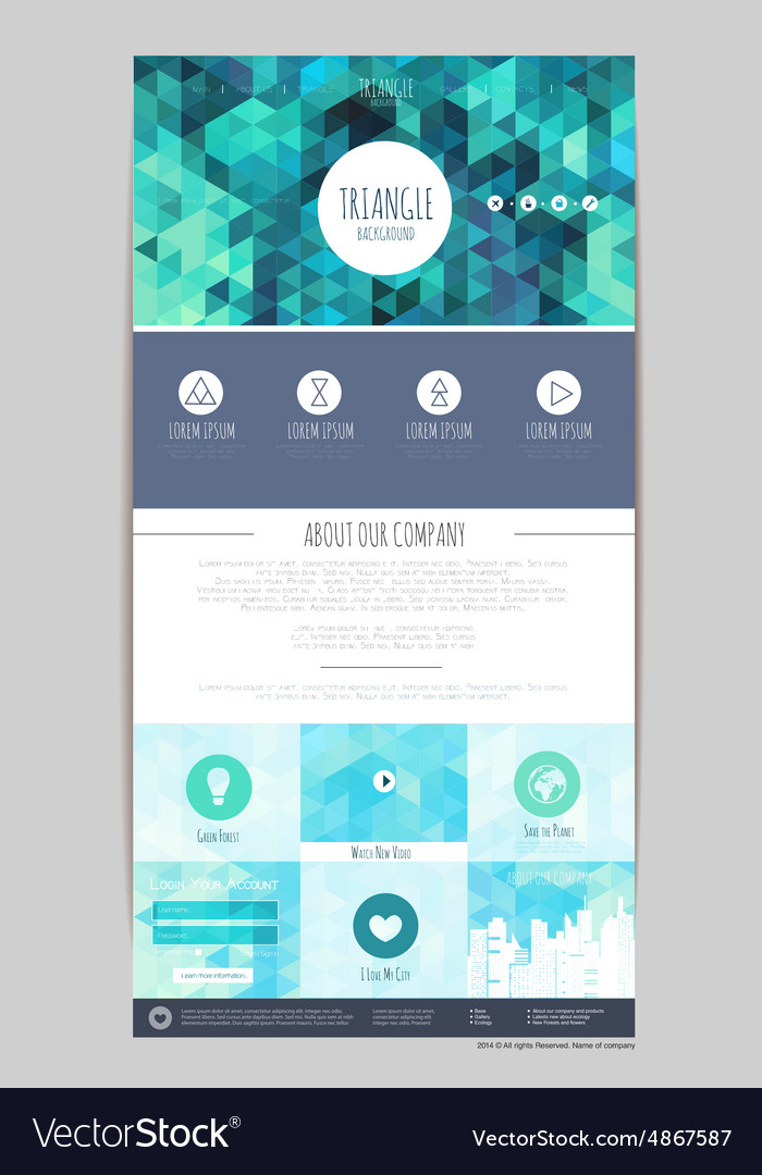 Abstract geometric triangle concept web site desig vector