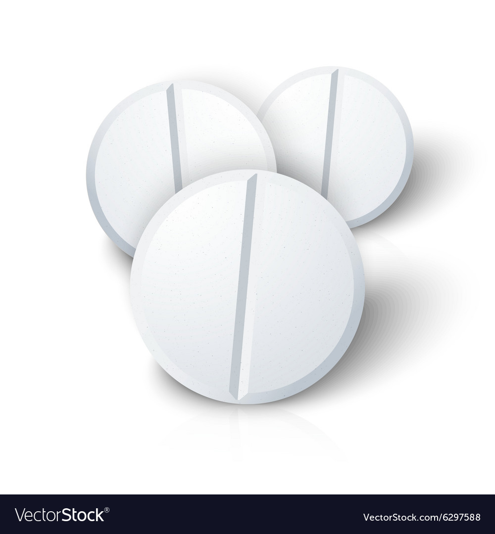 Set of photorealistic medicine pill isolated on vector