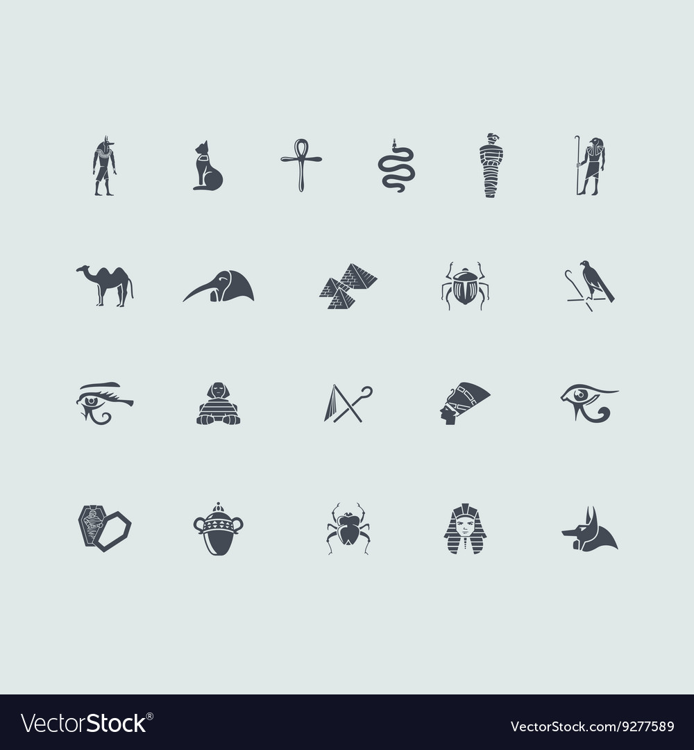 Set of egypt icons vector