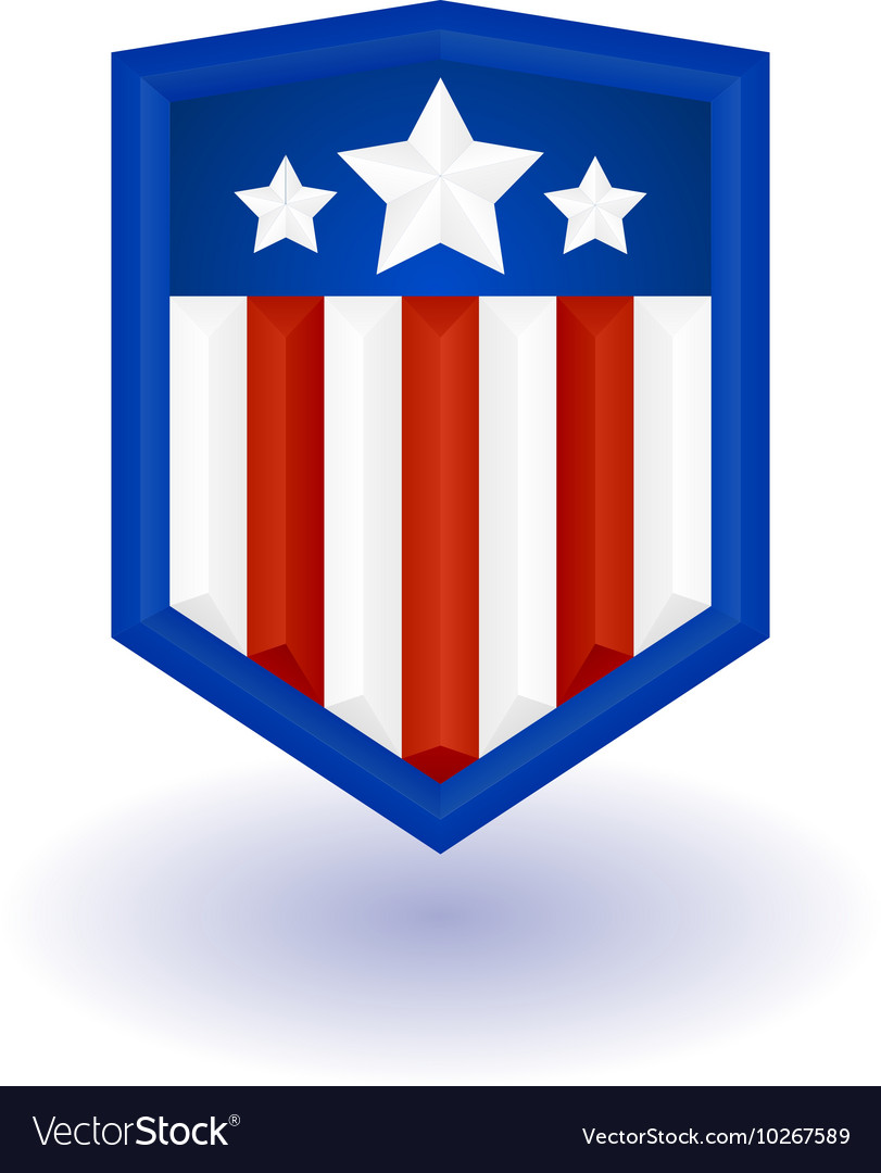 Super hero shield vector