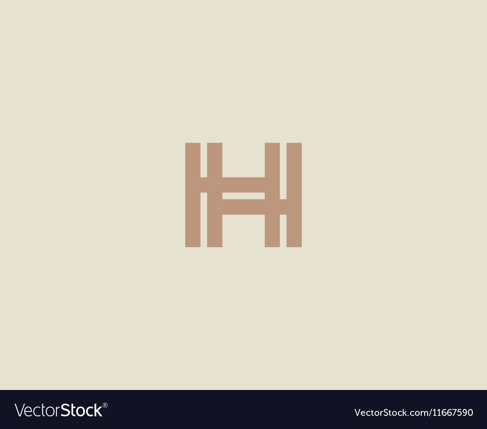 Abstract letter h logo design template colorful vector