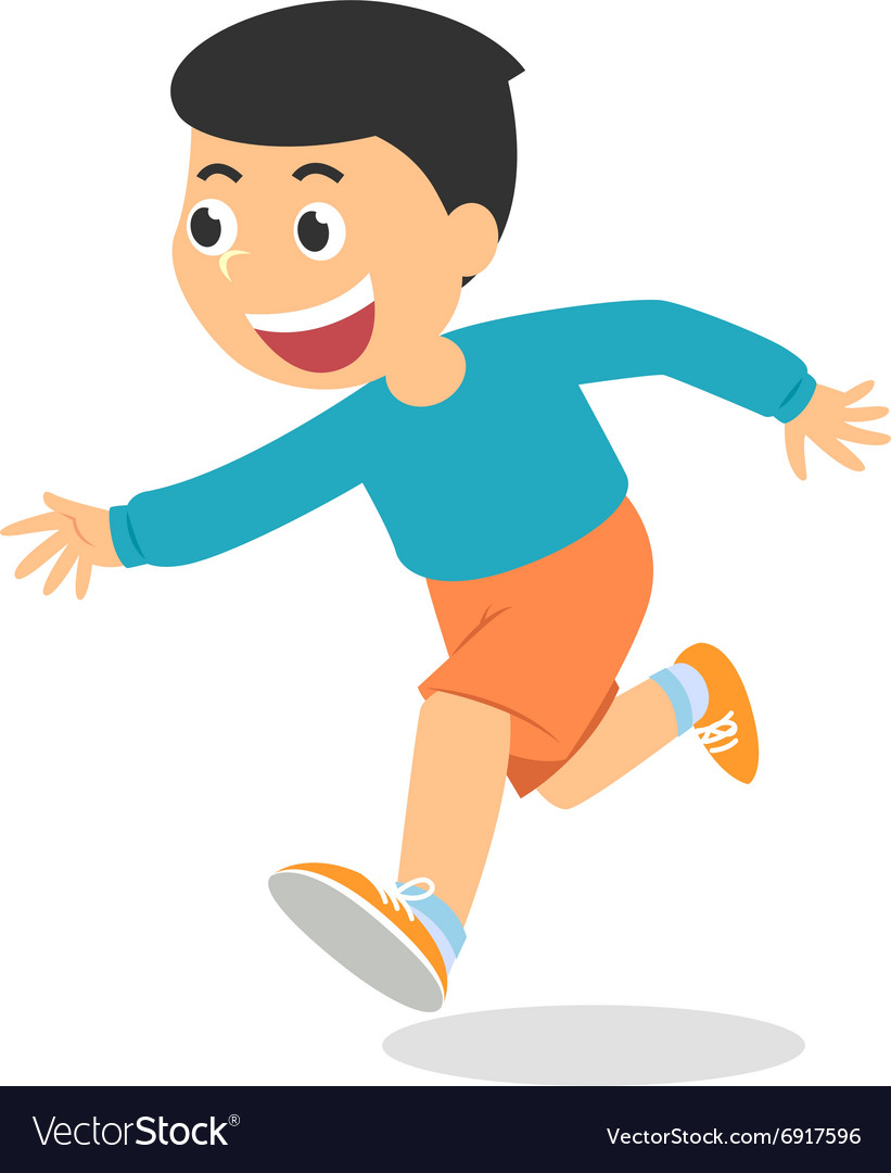 Cartoon boy running vector